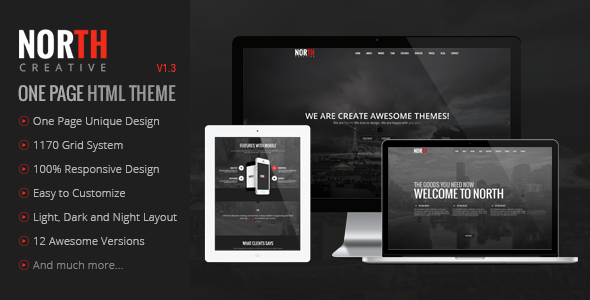 North - One Page Parallax Theme
