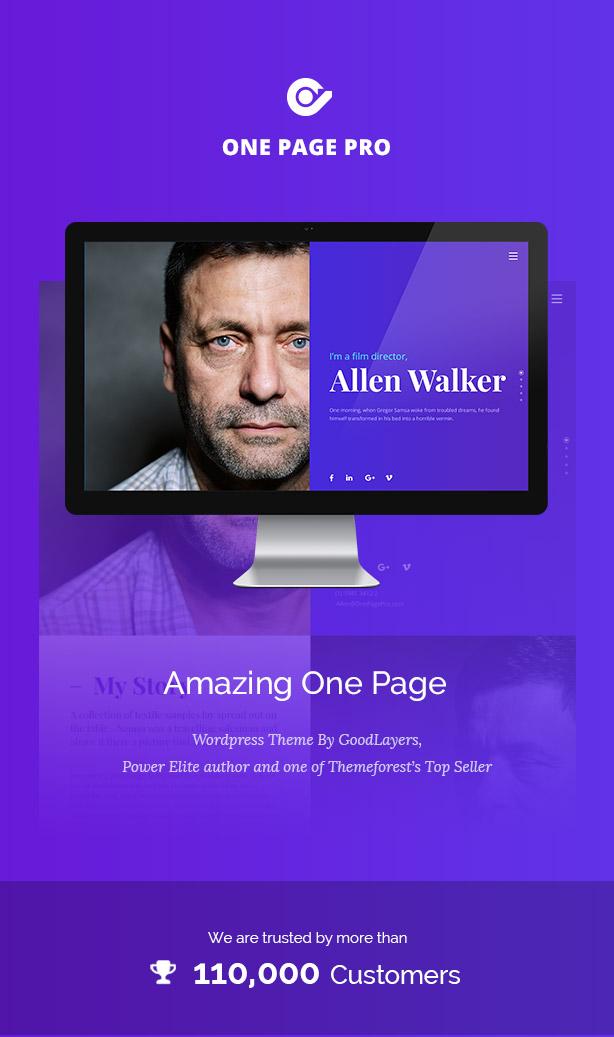 One Page Pro - Multi Purpose OnePage WordPress Theme - 1