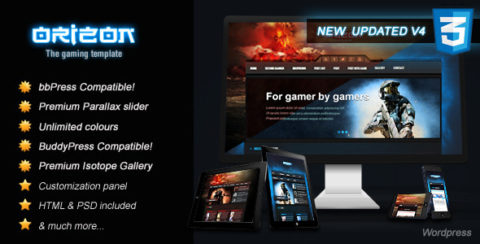 Orizon - The Gaming Template WP version