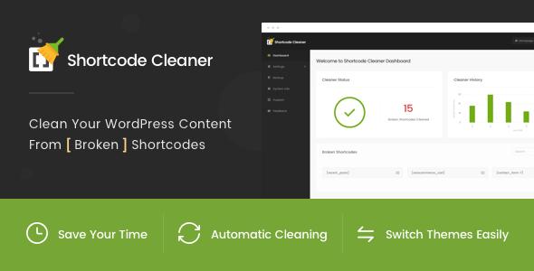 Shortcode Cleaner - Clean WordPress Content from Broken Shortcodes