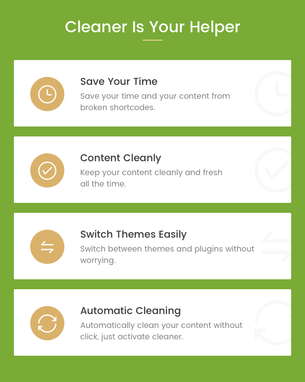 Shortcode Cleaner - Clean WordPress Content from Broken Shortcodes - 3