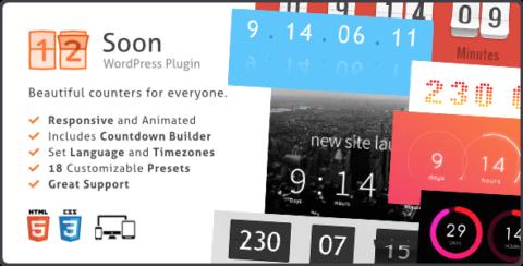 Soon Countdown Builder, Responsive WordPress Plugin