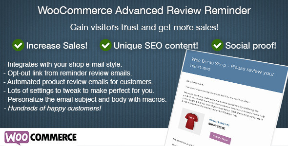 WooCommerce Advanced Review Reminder