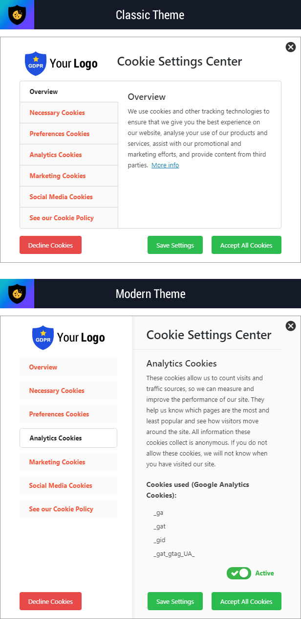 Cookie Plus GDPR - Cookies Consent Solution for WordPress. Master Popups Addon - 12