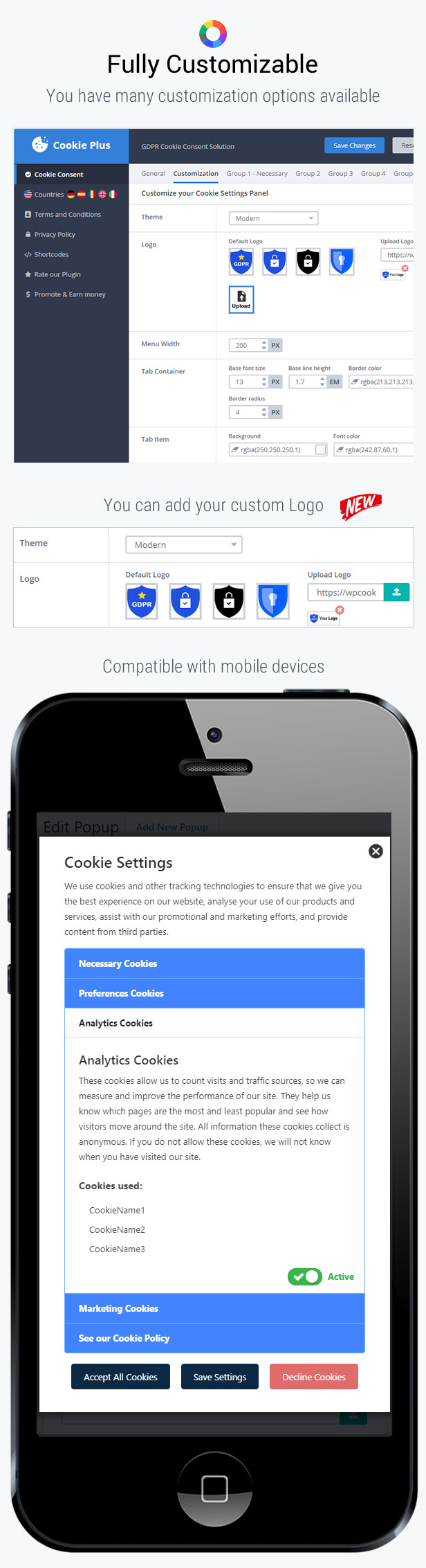 Cookie Plus GDPR - Cookies Consent Solution for WordPress. Master Popups Addon - 15
