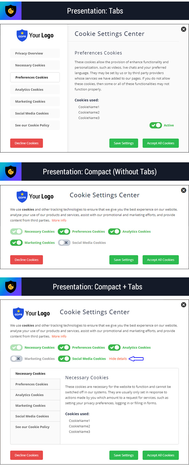 Cookie Plus GDPR - Cookies Consent Solution for WordPress. Master Popups Addon - 13
