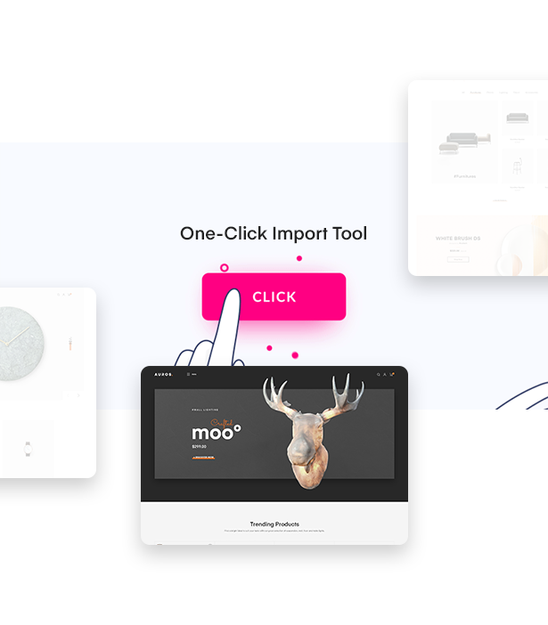 One Click Import Tool in Auros Furniture Elementor WooCommerce Theme
