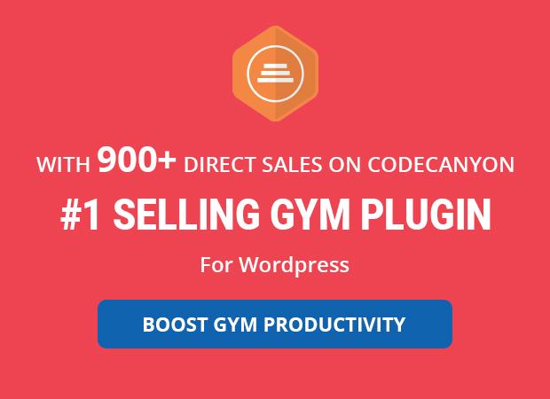 #1 Gym wordpress plugin