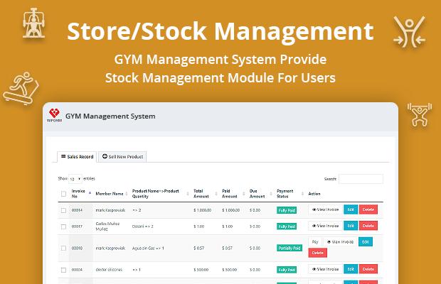 Gym inventory Software