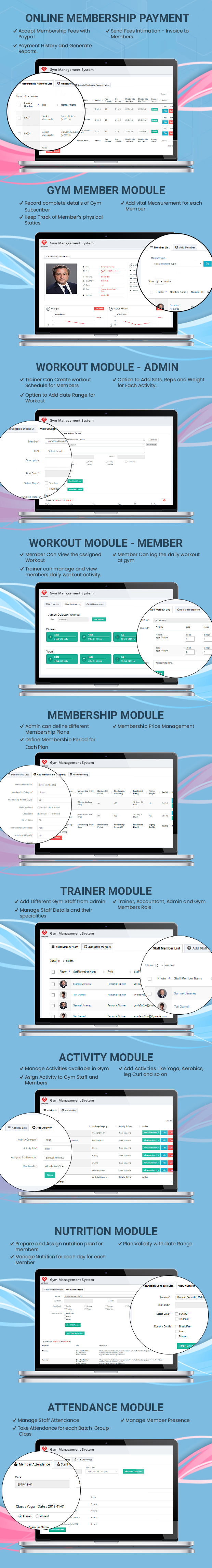 online payment gym Management System