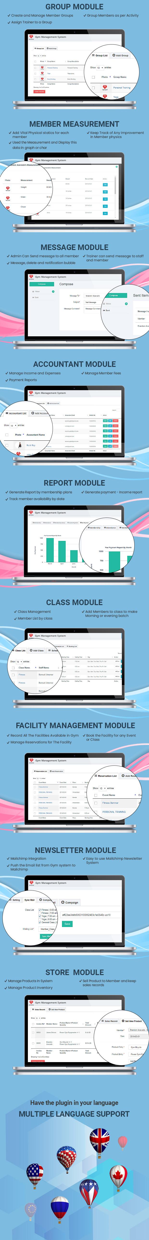 Wordpres gym Management System