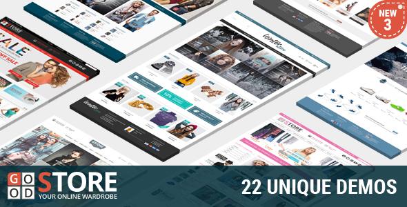 Goodstore premium e-commerce theme for wordpress