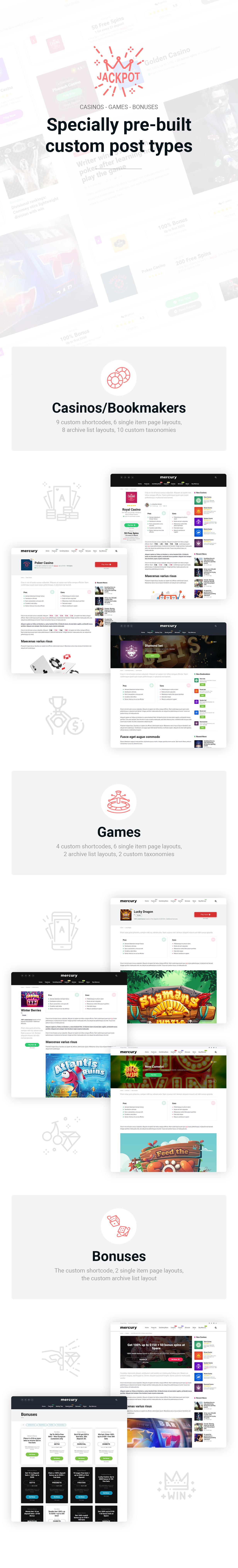 Casino Affiliate WordPress Theme