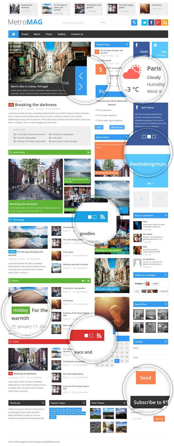 Metro Magazine Responsive WordPress Theme - 6