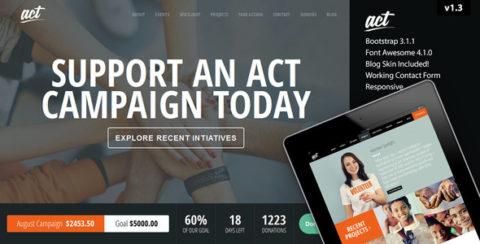 Act - Nonprofit Charity Theme
