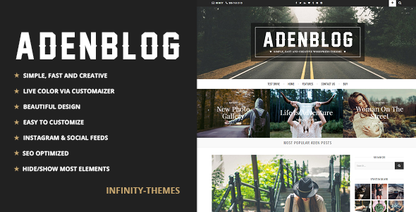 Aden - A WordPress Blog Theme