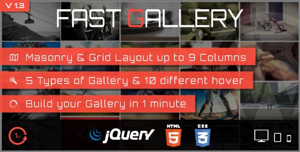 Fast Gallery - Premium Wordpress Plugin