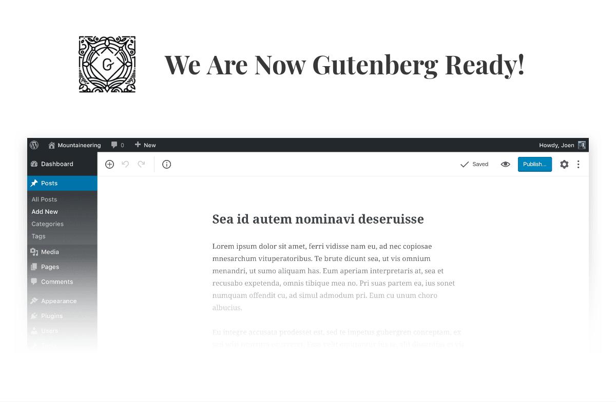 Gutenberg ready WordPress theme by Codestag