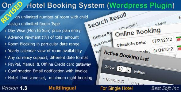 Online Hotel Booking System (WordPress Plugin)