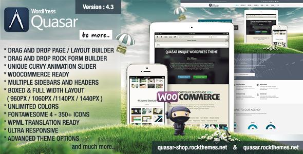 Quasar - WordPress Theme with Animation Builder