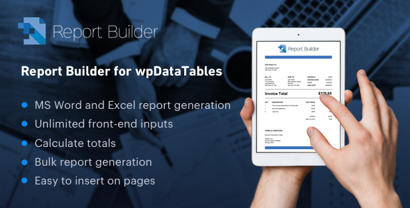 Report Builder add-on for wpDataTables - Generate Word DOCX and Excel XLSX documents