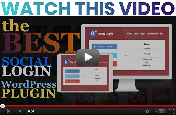 social login video
