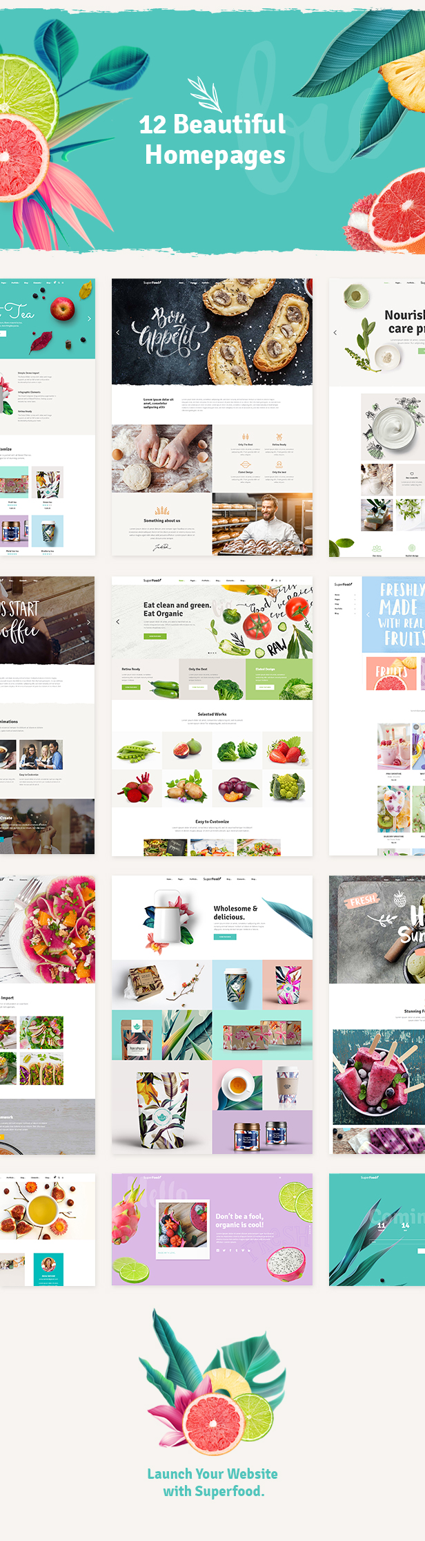 Superfood - Organic Food Products Theme - 1