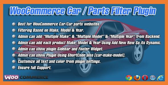 WooCommerce Car/Parts Filter Plugin
