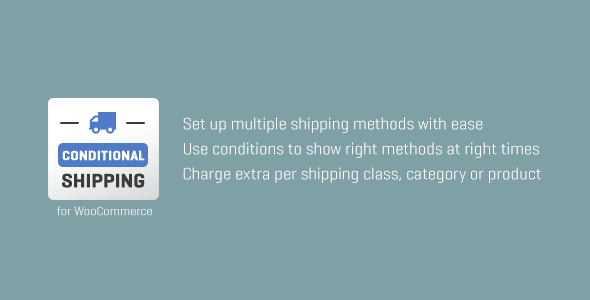 WooCommerce Conditional Shipping