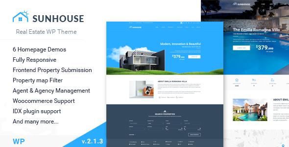 Sun House - Real Estate WP | Responsive Real Estate WordPress Theme