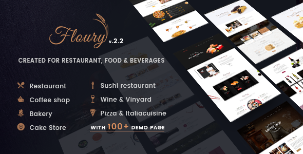 Restaurant WordPress Theme | Restaurant WP Floury (Restaurant, Cafe, Pizza)