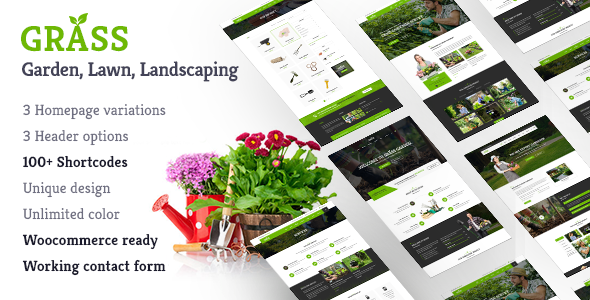 Grass - A Theme for Gardening & Landscaping Services