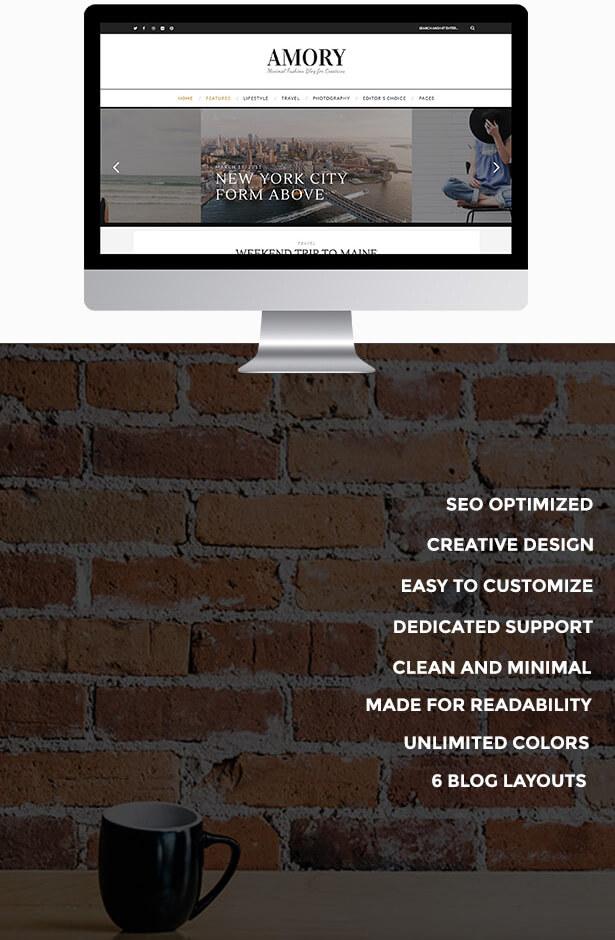 Amory - A Responsive WordPress Blog Theme - 3