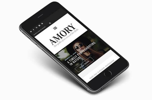 Amory - A Responsive WordPress Blog Theme - 4