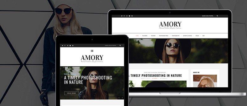 Amory - A Responsive WordPress Blog Theme - 5