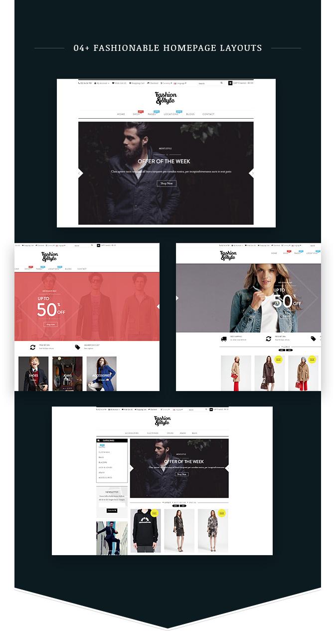 04+ Homepage Demos Fashion WooCommerce Responsive WordPress Theme