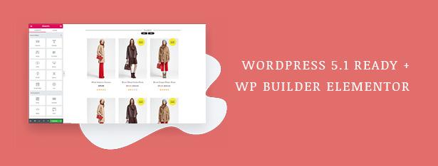 Fashion WooCommerce WordPress Theme with WP 5.1 & Elementor updates