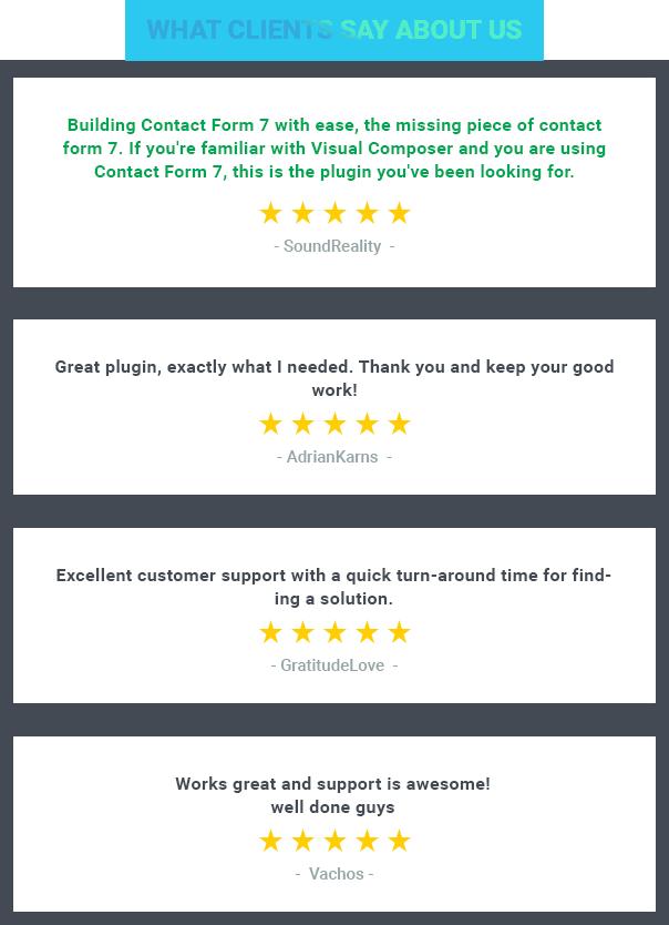 Moana - Contact Form 7 Builder use Visual Composer Reviews