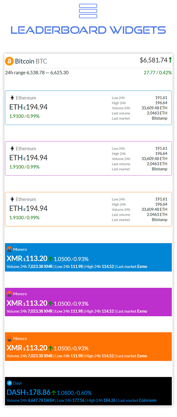 Premium Cryptocurrency Widgets | WordPress Crypto Plugin - 16