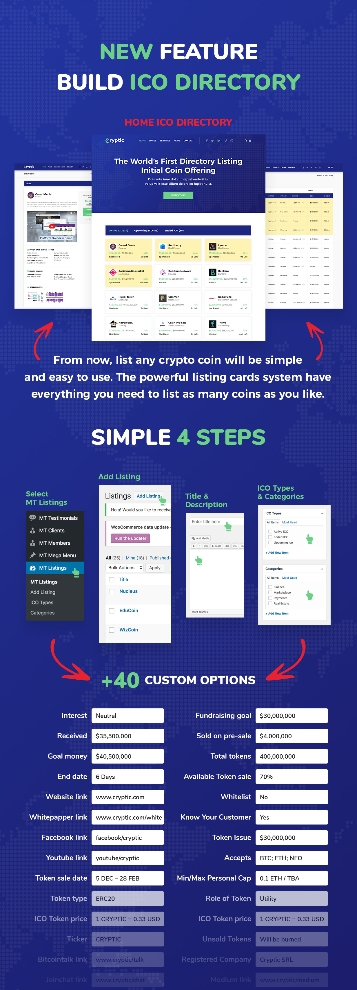 Cryptic - Cryptocurrency WordPress Theme - 3