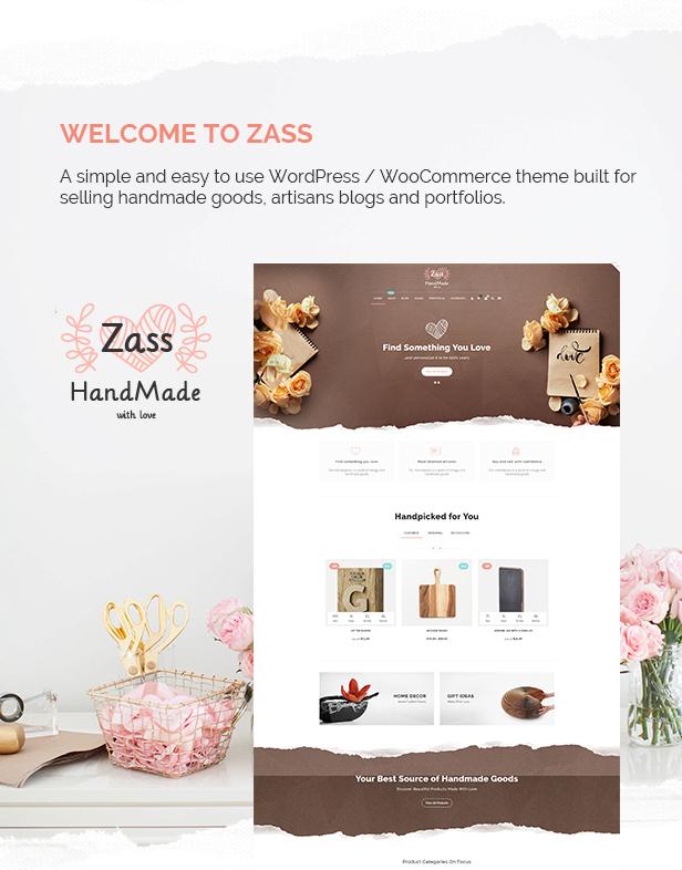 Zass - WooCommerce Theme for Handmade Artists and Artisans - 3