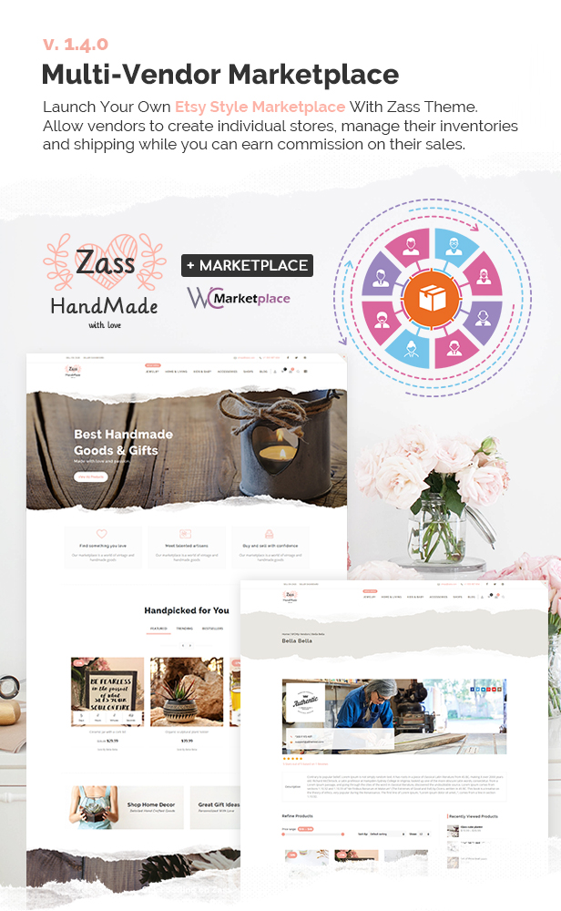 Zass - WooCommerce Theme for Handmade Artists and Artisans - 8