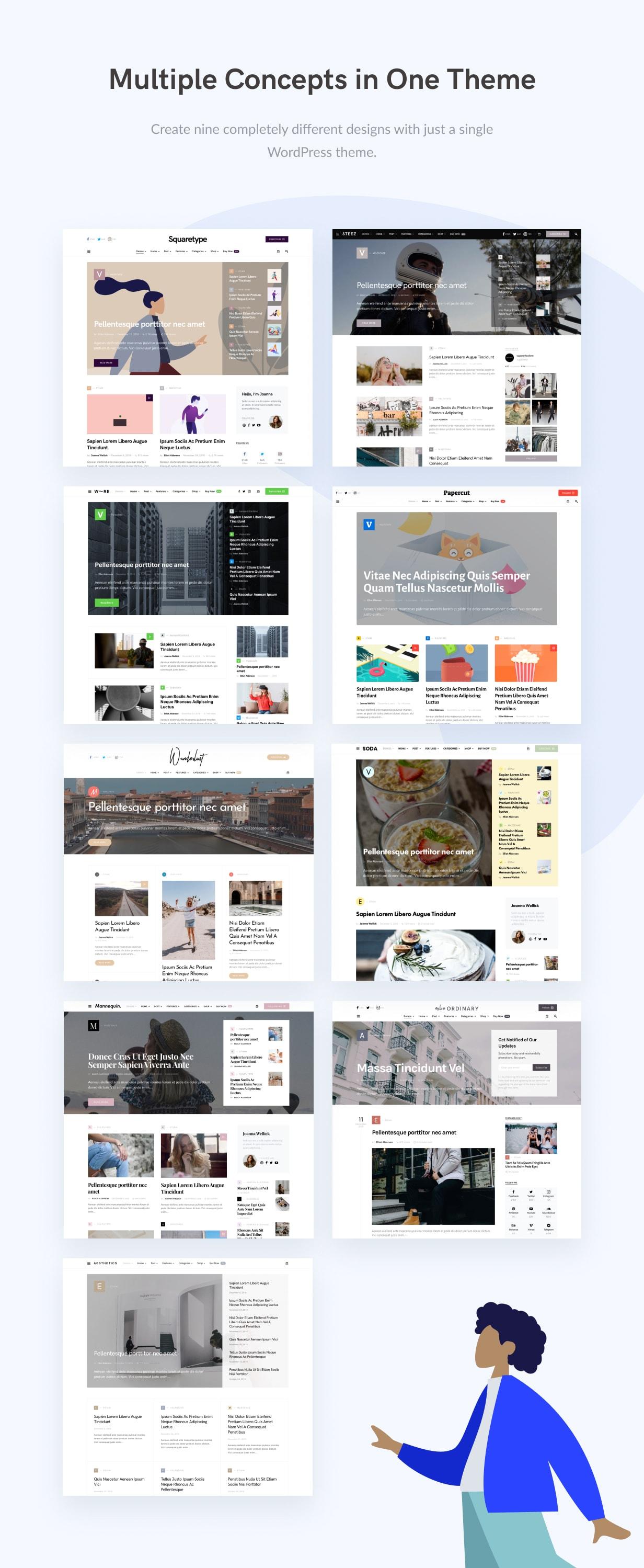 Squaretype - Modern Blog WordPress Theme - 2