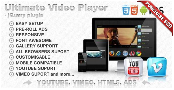 Ultimate Player with YouTube, Vimeo, Ads WP Plugin - 14