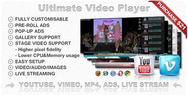 Ultimate Player with YouTube, Vimeo, Ads WP Plugin - 18