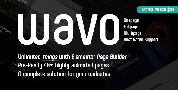 Wavo - Creative Agency WordPress Theme