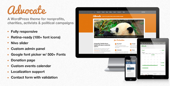 Advocate - A Nonprofit WordPress Theme