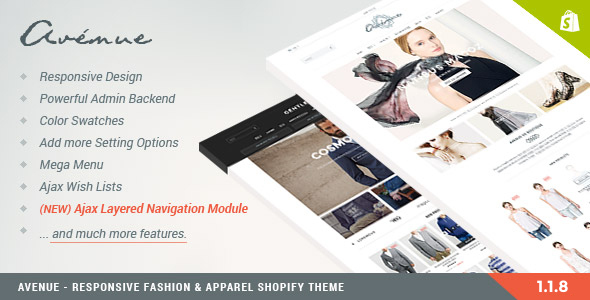 Avenue - Responsive Shopify Theme