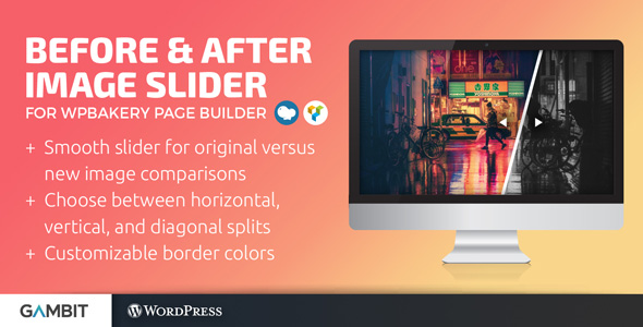 Before & After Image Slider for WPBakery Page Builder (formerly Visual Composer)