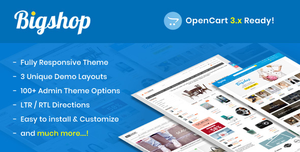 Bigshop - Responsive OpenCart Theme